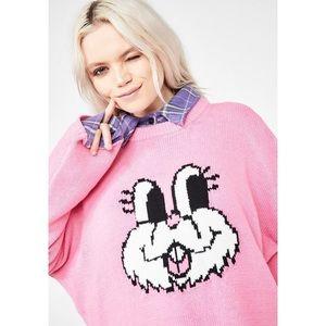 Lazy Oaf Bunny Knit Jumper